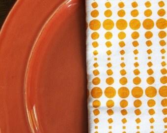Mustard Linear Design - Set of 4 Napkins