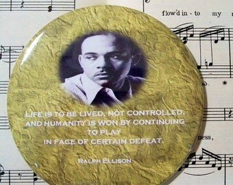 African American - Ralph Ellison - Black History Magnet Large 3.50 Inches, Party Favor Magnets