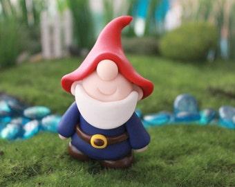Polymer Clay Traditional Gnome - Miniature Gnome - Mini Clay Gnome - Fairy Garden Accessory - Terrarium Accessory - Gnome Sculpture