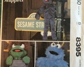 Vintage 1983 Sesame Street Oscar Grover Cookie Monster sewing Pattern McCall's 8395