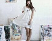 Causal Wedding Dress, vintage style white dress