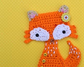 Crochet pattern - fox applique - by VendulkaM crochet, digital pattern DIY, pfd