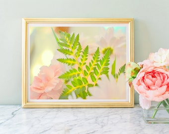 Instant Download Lovely Nursery Art  Flower Photography Print, Girl's Room Photography Print, Flower and Foliage Photography