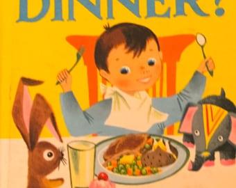 Vintage Wonder Book Who Likes Dinner