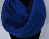 Royal Blue Crochet Infinity Scarf
