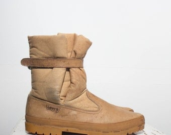 13 D | Men's Levis Canvas & Leather Winter Boots