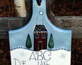 Snowman sampler,  recycled bread board, snowman sign, winter decor, snowman decor, primitive home decor, Christmas decor, hand painted,