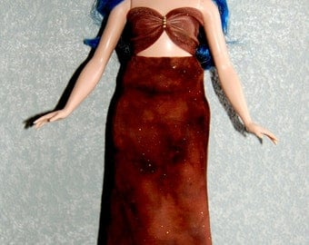 Curvy Barbie Maxi Skirt and Top  Doll Clothes  Fashionista Fashion Brown A4B170 READY TO SHIP