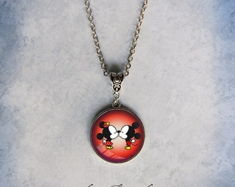 Kissing Mice Necklace