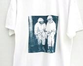 Screen Printed Tshirt, Men's Tshirt, Printed Tee, Cosmonaut Tshirt
