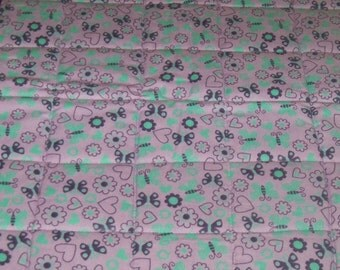 SALE! Purple Butterfly! Quilted Pet Mat