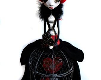 Steampunk Art Doll - Valentine's Doll - Victorian Art Doll - Steampunk Hearts