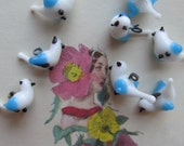 Vintage Japanese Little Birds With Embedded Hoops