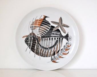 Mid Century Upsala Ekeby Fish Plate Sweden