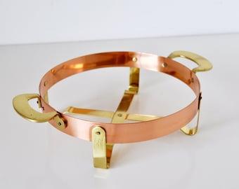 Vintage Copper & Brass Trivet ODI Portugal