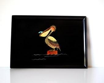Rare Couroc Mid Century Pelican Tray