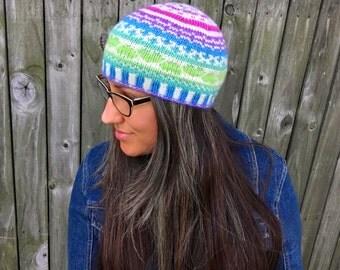 Knitting Pattern ~ Fair Isle Amore Beanie ~ Knitting Pattern