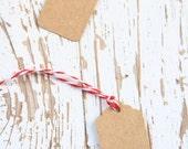 10 Etichette piccole di carta kraft - 10 Brown Kraft Gift Tags