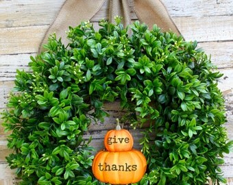 Pumpkin Wreath - Fall Wreath - Thanksgiving Wreath - Autumn Wreath