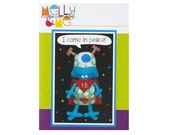 Alien softie paper pattern - I come in peace soft toy paper pattern - Melly and Me - NEW in sealed bag
