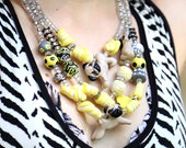 Yellow Pug Statement Necklace