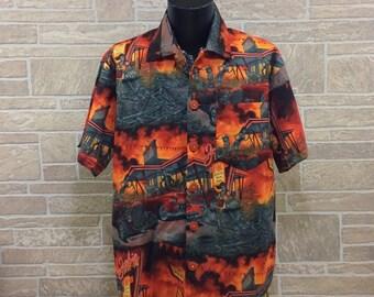 Zombie shirt zombie Hawaiian shirt Casual Friday Short sleeve shirt Novelty shirt