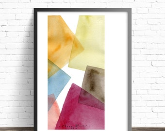 Abstract Print. Modern abstract art. Watercolor abstract. Living room wall art abstract watercolor. Abstract art prints. Modern wall art