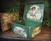 Vintage Victorian Christmas box
