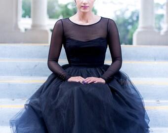 Full Length, Floor length Tulle Skirt, Extra Full Skirt- Ivory Tulle Skirt,Tulle skirt, Tutu,  Bridesmaid dress, Engagement Dress
