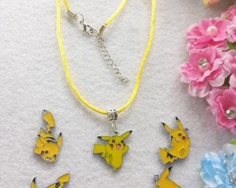 10 Pikachu, Pokemon Necklaces Party Favors