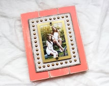 Picture Frame | Rustic Picture Frame 4x6 | Picture Frame Distressed | Gift for Girl | Coral Picture Frame | Pink | Wood Frame