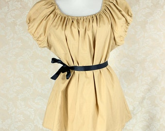 "Wheat Cotton Willow Chemise -- Sz. L -- Fits Bust 40""-44"" --  Ready to Ship"