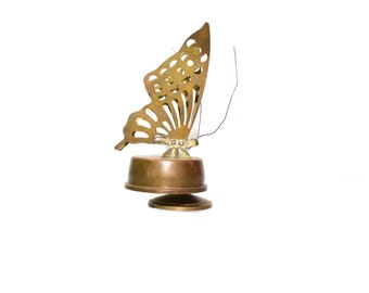 Vintage Brass Butterfly Butterfly Music Box Musical Butterfly Wind up Butterfly Vintage Music Box