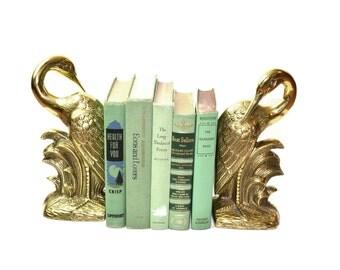 Egret Bookends Brass Egret Bookends Crane Bookends Brass Crane Heron Bookends Pelican Bookends Nautical Beach Decor