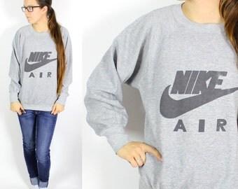 Vintage Retro Grey Nike Air Sweatshirt Small/Medium