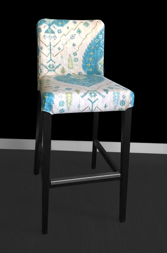 Ikea Henriksdal Bar Stool Chair Cover Aubusson By