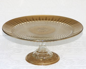 Cake Stand Gold Cupcake Stand Gold Shabby Chic Vintage Reclaimed Serving Platter