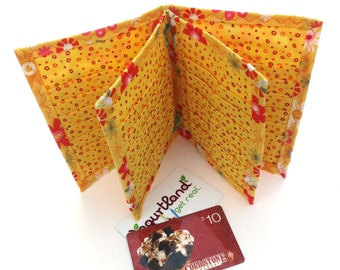 Wallet Credit Card Holder Organizer with 36 Slots Cotton Fabric Women Ladies Business Card Book Receipts Coupons Eva Clements