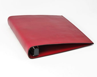 Leather 3 Ring Binder Notebook - 1 1/2 inch