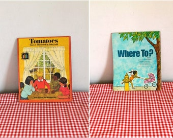 "vintage 1973 ""Where To?"" // ""Tomatoes"" 2-in-1 reversible book"
