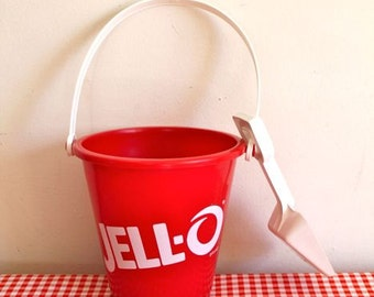 vintage 1980s collectible toy - JELL-O bucket & shovel advertising toy