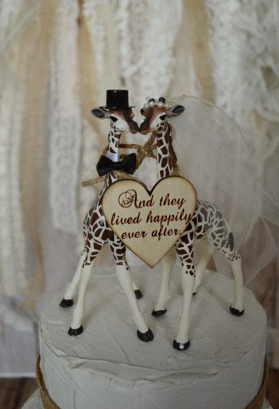 Giraffe Wedding Cake Topper Animal Wedding Cake