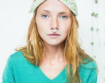 liberty wire headband, dolly bow headband, turban headband, twisted wire headband, retro headband , dolly bow, green headband