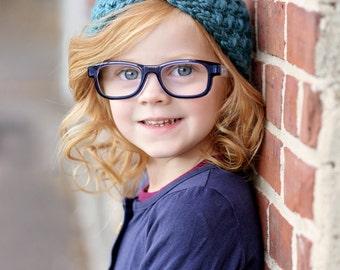 Children's Turban Headband / Kids Ear Warmers / Crochet Bow Headwrap / Crochet Headband / Fall Fashion / Boho Chic Ear Warmers