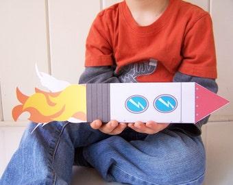 Printable Rocket Papercraft