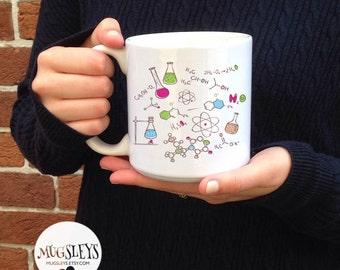 Chemistry Teacher Coffee Mug, Large 20 OZ Mug, Big Coffee Cups, College gifts, Graduation mug, Gifts for Teacher, Chem Lab, Chemist gift