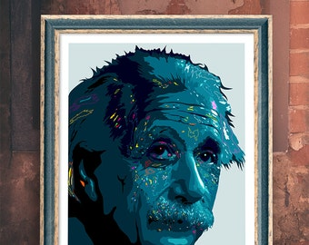 Albert Einstein Giclee Art Print - A3 Portrait