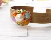 Rustic Cuff Bracelet - Inspirational Cuff Bracelet - Brass Cuff Bracelet - Rustic Jewelry - Motivational Bracelet - Love Bracelet
