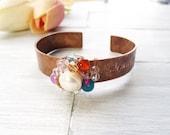 Inspirational Jewelry Bracelet - Rustic Cuff Bracelet - Copper Cuff Bracelet - Rustic Jewelry - Motivational Bracelet - Believe Bracelet