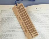 Wood Bookmark - Laser Engraved Alder Wood - SHHHH I'm Reading Book Mark